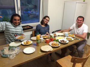 Abendessen während des Ramadan