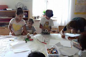 Basteln, malen, schreiben, lesen – der Ferienkurs sorgte für vielfältige Beschäftigung.